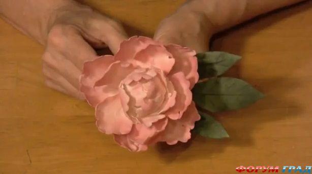 Как сделать пионы из мастики