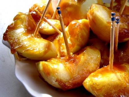 жареные яблоки в карамели рецепт с фото