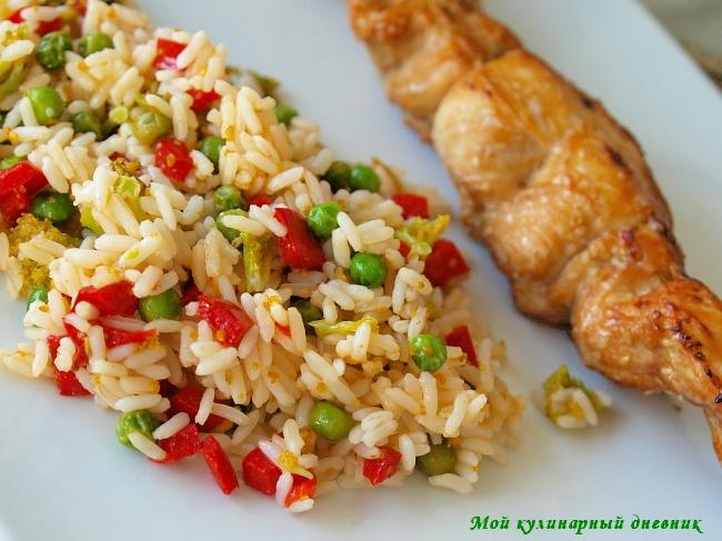 Рис с курицей с кукурузой в духовке рецепт