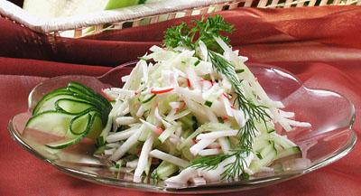 Рецепт салатов из морепродуктов с огурцами