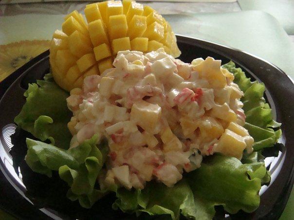 Салат с манго рецепт с фото очень вкусный с
