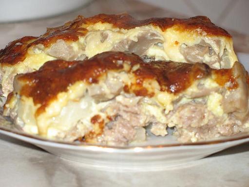 Запеканка с картошкой и мясом и сыром в духовке рецепт