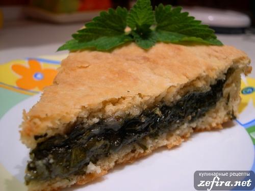 Пирог с щавелем сладкий рецепт